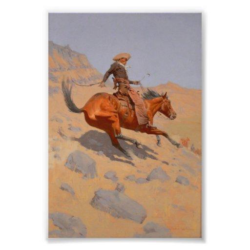 Frederic Remington - The Cowboy Photo Print