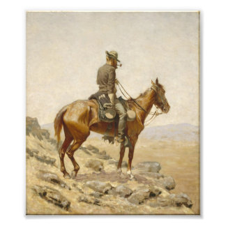 Frederic Remington - The Lookout Photo Print