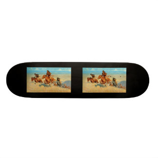 Frederic Remington's The Buffalo Runners (1909) 20.6 Cm Skateboard Deck