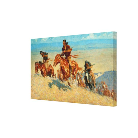 Frederic Remington's The Buffalo Runners (1909) Canvas Print