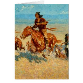 Frederic Remington's The Buffalo Runners (1909) Card