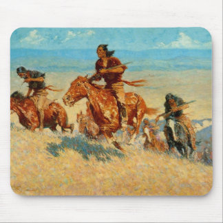 Frederic Remington's The Buffalo Runners (1909) Mouse Mat