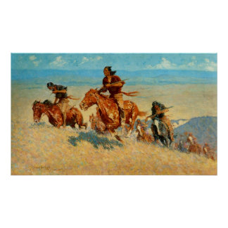 Frederic Remington's The Buffalo Runners (1909) Poster