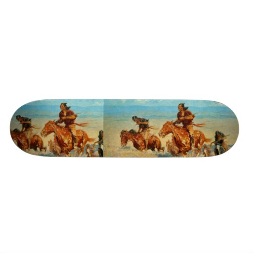 Frederic Remington's The Buffalo Runners (1909) Custom Skate Board