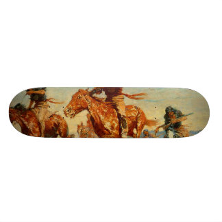 Frederic Remington's The Buffalo Runners (1909) Skateboard Deck