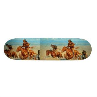 Frederic Remington's The Buffalo Runners (1909) Skateboard Decks