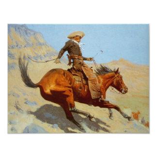 Frederic Remington's The Cowboy (1902) 11 Cm X 14 Cm Invitation Card