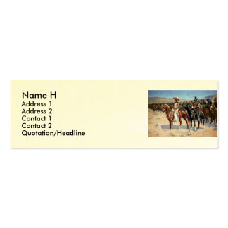 Frederic Remington's The Mexican Major (1889) Pack Of Skinny Business Cards