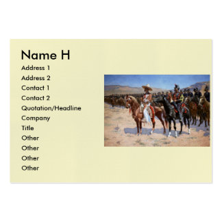 Frederic Remington's The Mexican Major (1889) Pack Of Chubby Business Cards