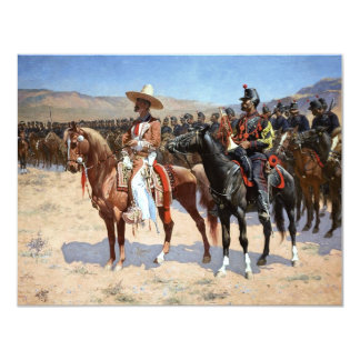 "Frederic Remington's The Mexican Major (1889) 4.25"" X 5.5"" Invitation Card"
