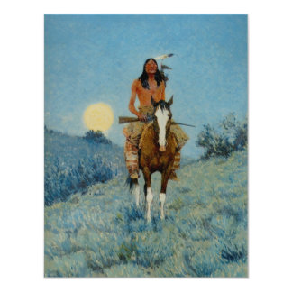 Frederic Remington's The Outlier 1909 11 Cm X 14 Cm Invitation Card