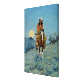 Frederic Remington's The Outlier 1909 Canvas Print
