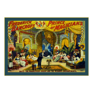 Frederick Bancroft, Prince of Magicians Poster