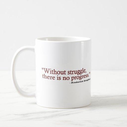 Frederick Douglas Quote Basic White Mug