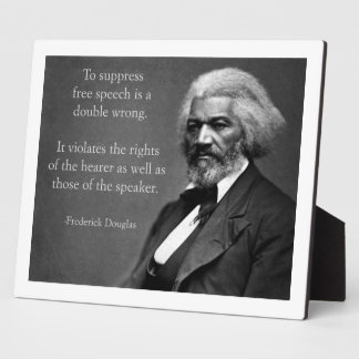 Frederick Douglass Free Speech Plaque