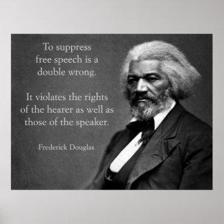 Frederick Douglass Free Speech Posters