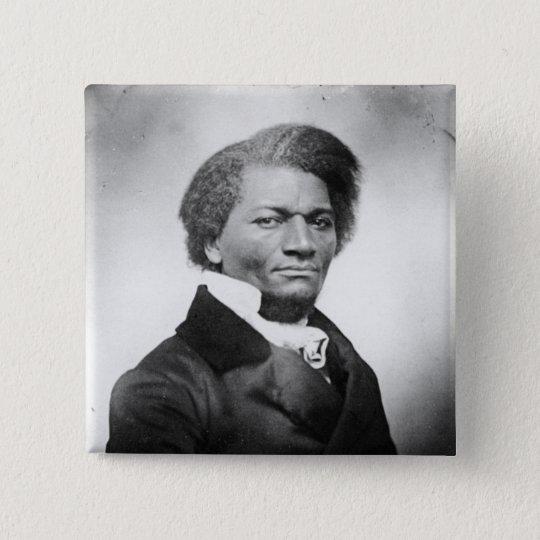 Frederick Douglass Portrait  ~ 1847 15 Cm Square Badge