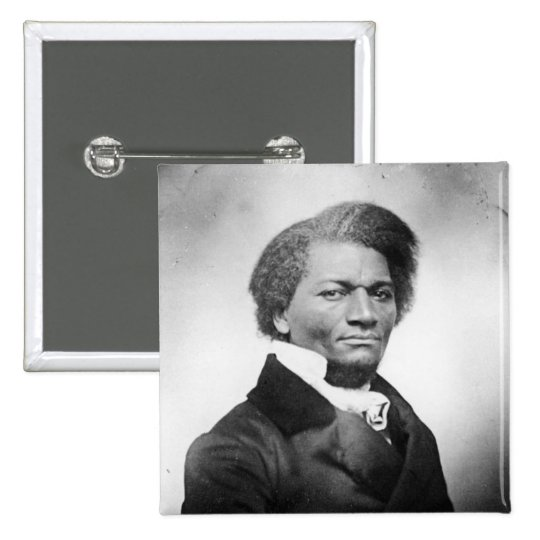 Frederick Douglass Portrait  ~ 1847 15 Cm Square Badge