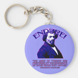 Frederick Douglass Quote The Limits of Tyrants Keychains