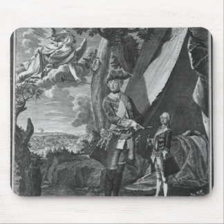 Frederick II  and His Nephew Frederick William Mouse Mat