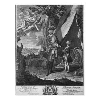 Frederick II  and His Nephew Frederick William Postcard