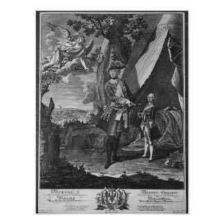 Frederick II  and His Nephew Frederick William Posters