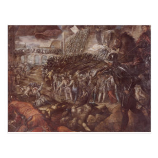Frederick II conquered Parma in 1521 by Tintoretto Postcard