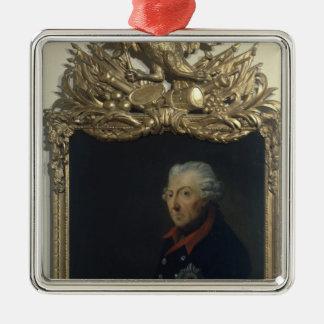 Frederick II of Prussia Silver-Colored Square Decoration