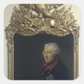 Frederick II of Prussia Square Sticker