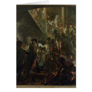 Frederick II the Great, in Lissa, Bonsoir Card