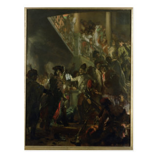 Frederick II the Great, in Lissa, Bonsoir Postcard
