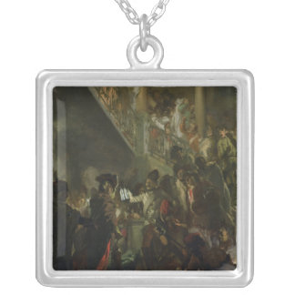 Frederick II the Great, in Lissa, Bonsoir Silver Plated Necklace