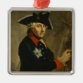 Frederick II the Great of Prussia, 1764 Silver-Colored Square Decoration