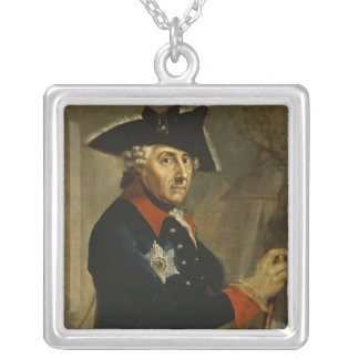Frederick II the Great of Prussia, 1764 Silver Plated Necklace