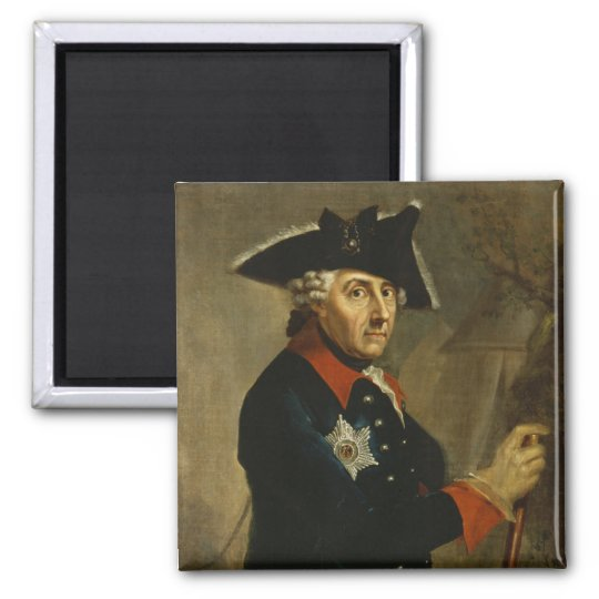 Frederick II the Great of Prussia, 1764 Square Magnet