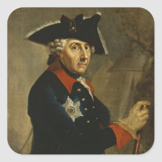 Frederick II the Great of Prussia, 1764 Square Sticker