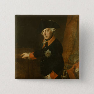 Frederick II The Great of Prussia, c.1763 15 Cm Square Badge