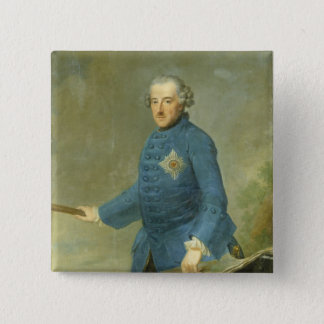 Frederick II the Great of Prussia, c.1770 15 Cm Square Badge