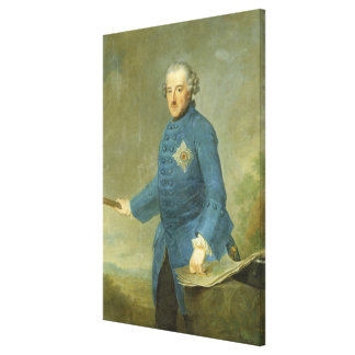 Frederick II the Great of Prussia, c.1770 Canvas Print
