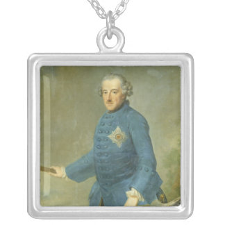 Frederick II the Great of Prussia, c.1770 Silver Plated Necklace