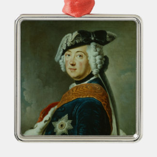 Frederick II the Great of Prussia Silver-Colored Square Decoration