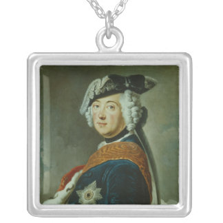 Frederick II the Great of Prussia Silver Plated Necklace