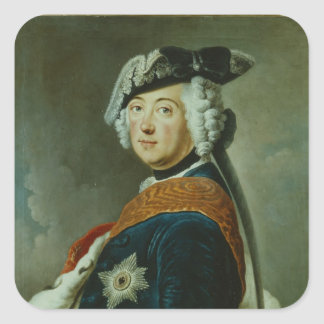 Frederick II the Great of Prussia Square Sticker