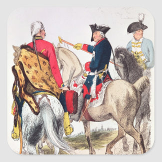 Frederick II  the Great Square Sticker