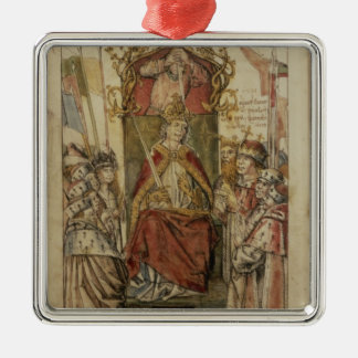 Frederick III surrounded by Prince Electors Christmas Ornament