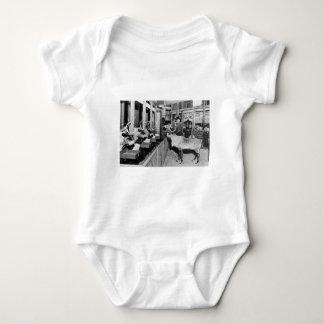 Frederick & Nelson Raindeer in the Window Baby Bodysuit