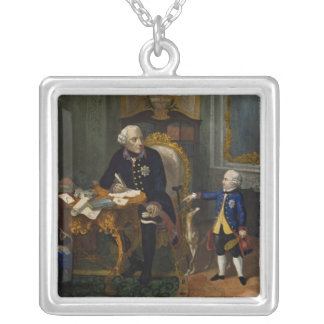 Frederick the Great and his Grandnephew Silver Plated Necklace