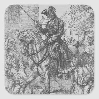 Frederick the Great of Prussia Square Stickers