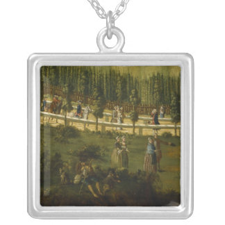 Frederick the Great on horseback Silver Plated Necklace