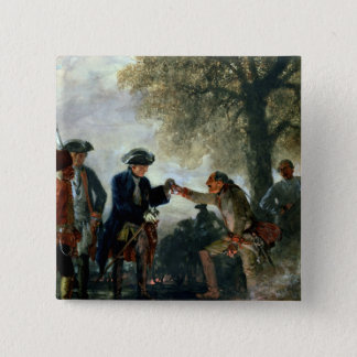Frederick the Great  with Zieten at the Camp 15 Cm Square Badge